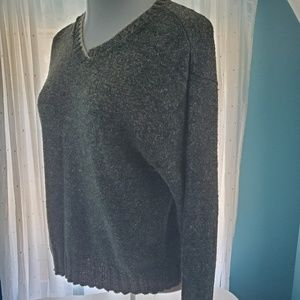 Copper Key Sweaters - Women's green marled v-neck sweater